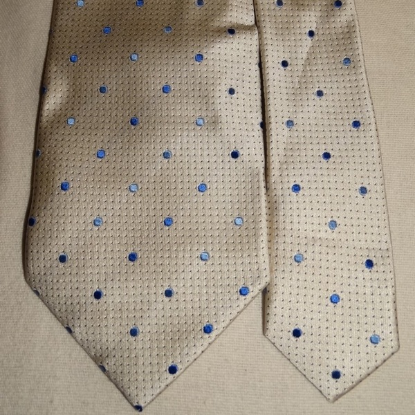 Paul Smith White Spotted Blue Tie