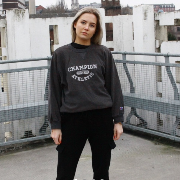 Vintage Dark Grey Champion Sweatshirt