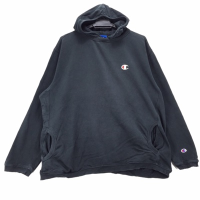 Vintage Champion Small Logo Embroidery Hoodie