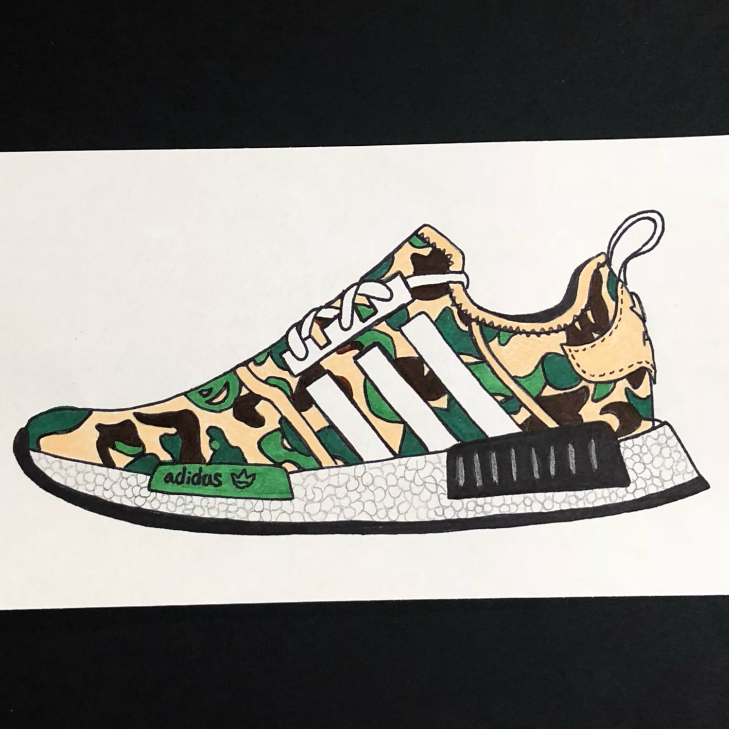 release date 775c6 abd73 Pack Of 3 Shoe Portraits; Bape, Air Max, Offwhite