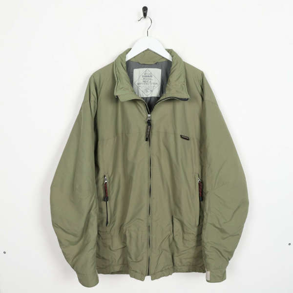 Vintage NAPAPIJRI Small Logo Padded Bomber Jacket Coat Green XL