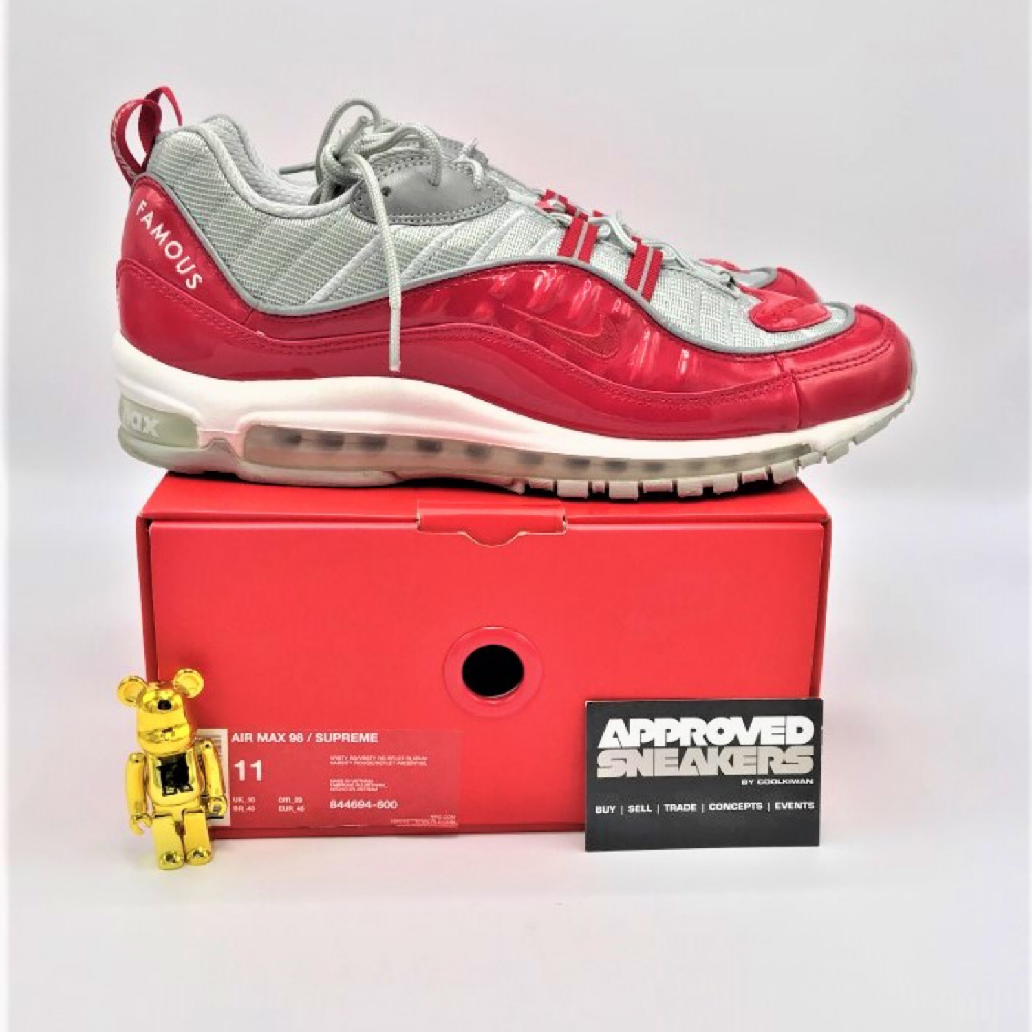 best service 1dea4 ea6fb Nike Air Max 98 X Supreme Red