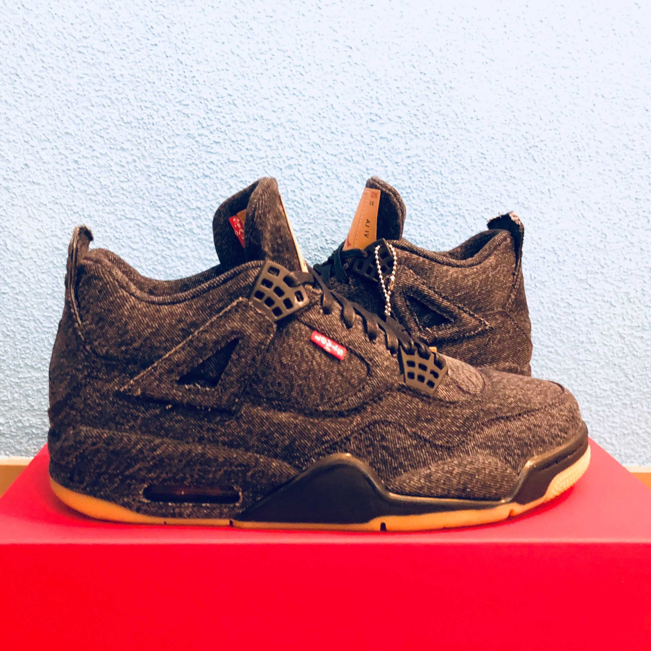 brand new 65f73 db0bb Levi'S X Jordan 4 Retro Black Denim