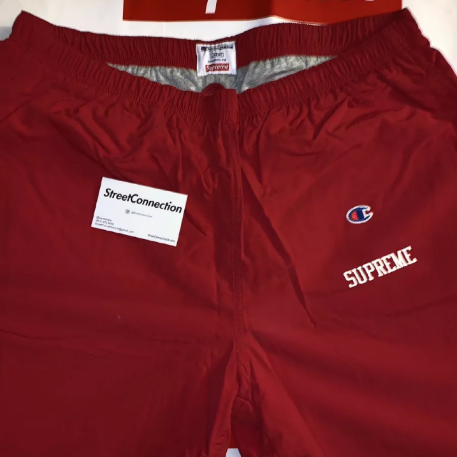 Supreme X Champion Track Pants Red
