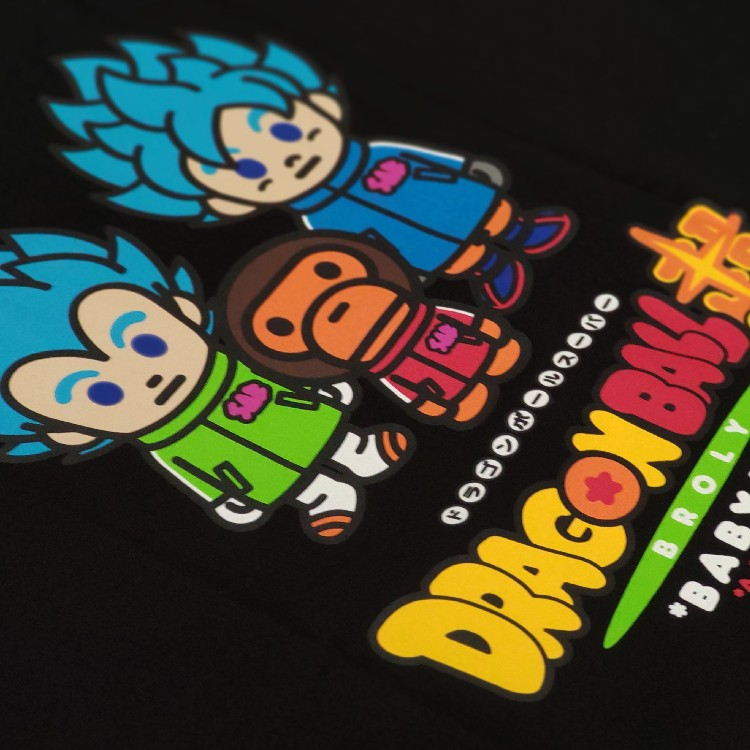Bape X Dragon Ball Super Son Goku & Vegeta Tee