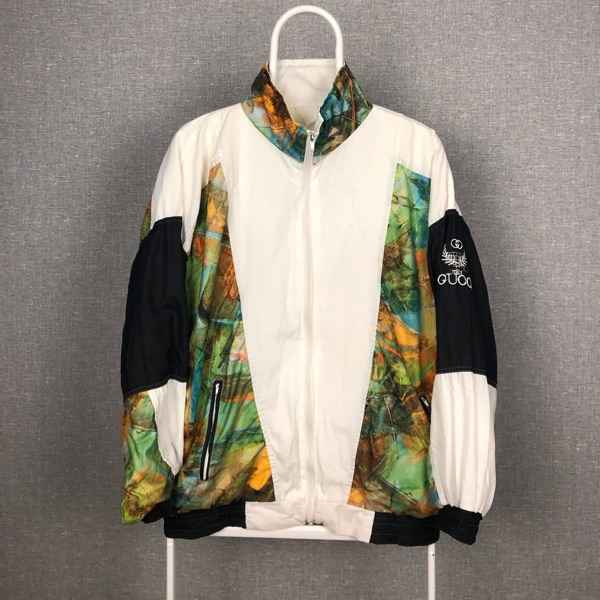 Vintage Gucci 80S Track Top White Green Black