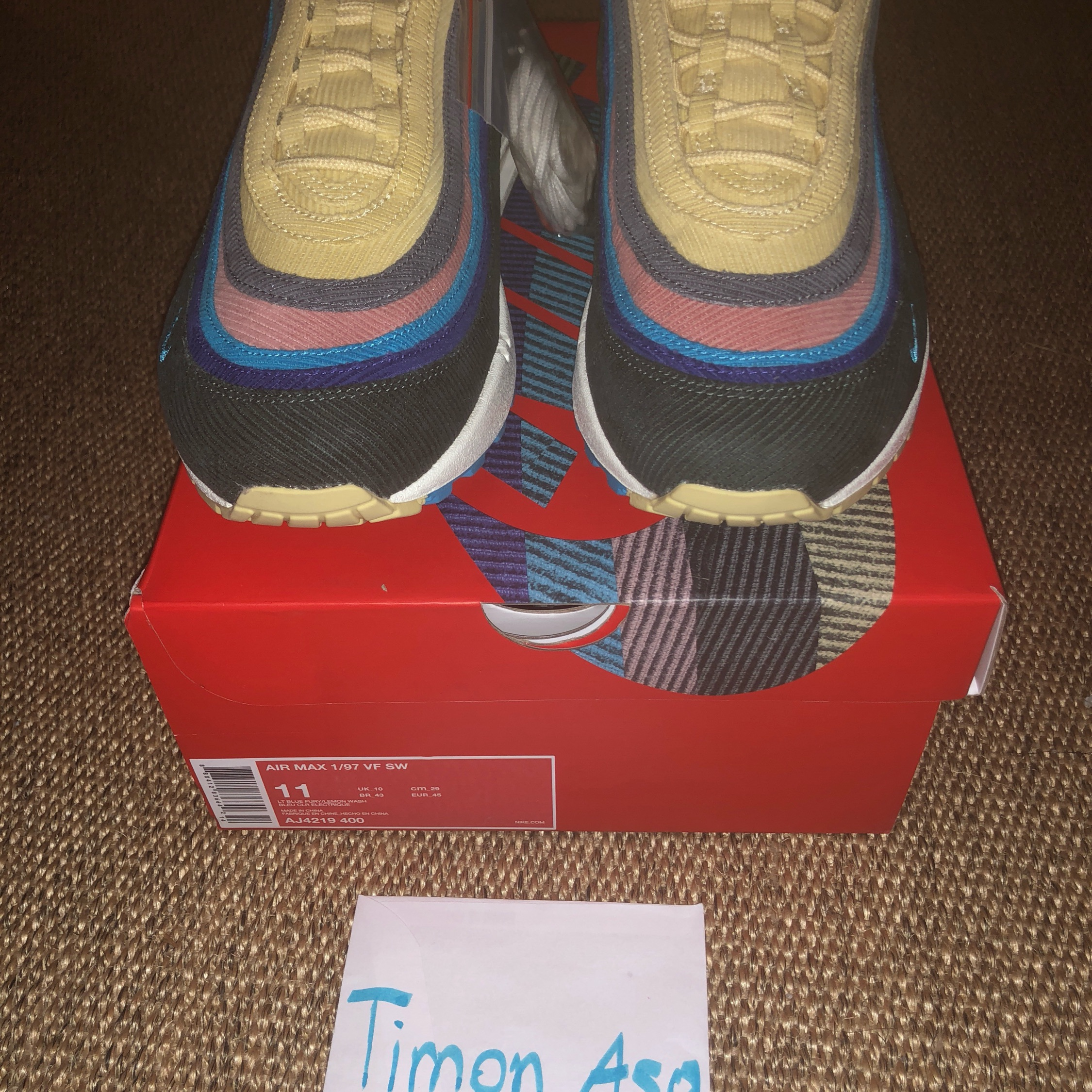 Nike Air Max 97 Sean Wotherspoon Edition Size 10