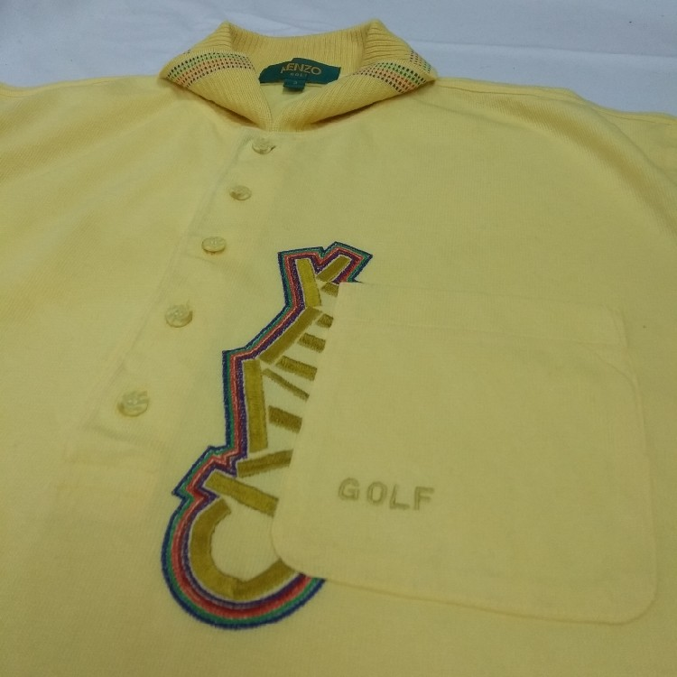 💥 MUST GONE 💥Vintage Rare Kenzo Golf Polo T-Shirt Button Up