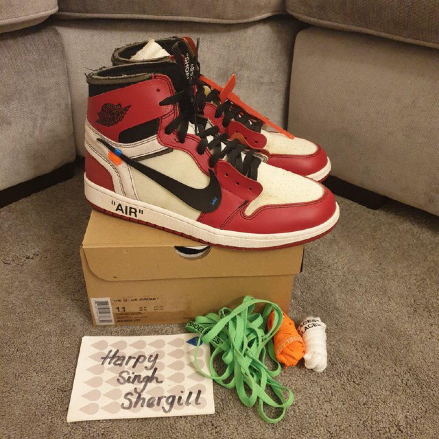 new product 22258 11947 Off White X Nike Air Jordan 1 Chicago