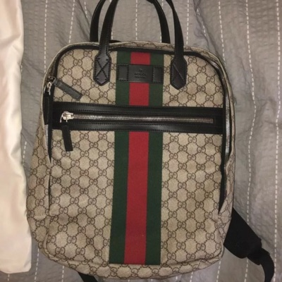 Gucci Back-Pack Gg Supreme (Negociable Price)
