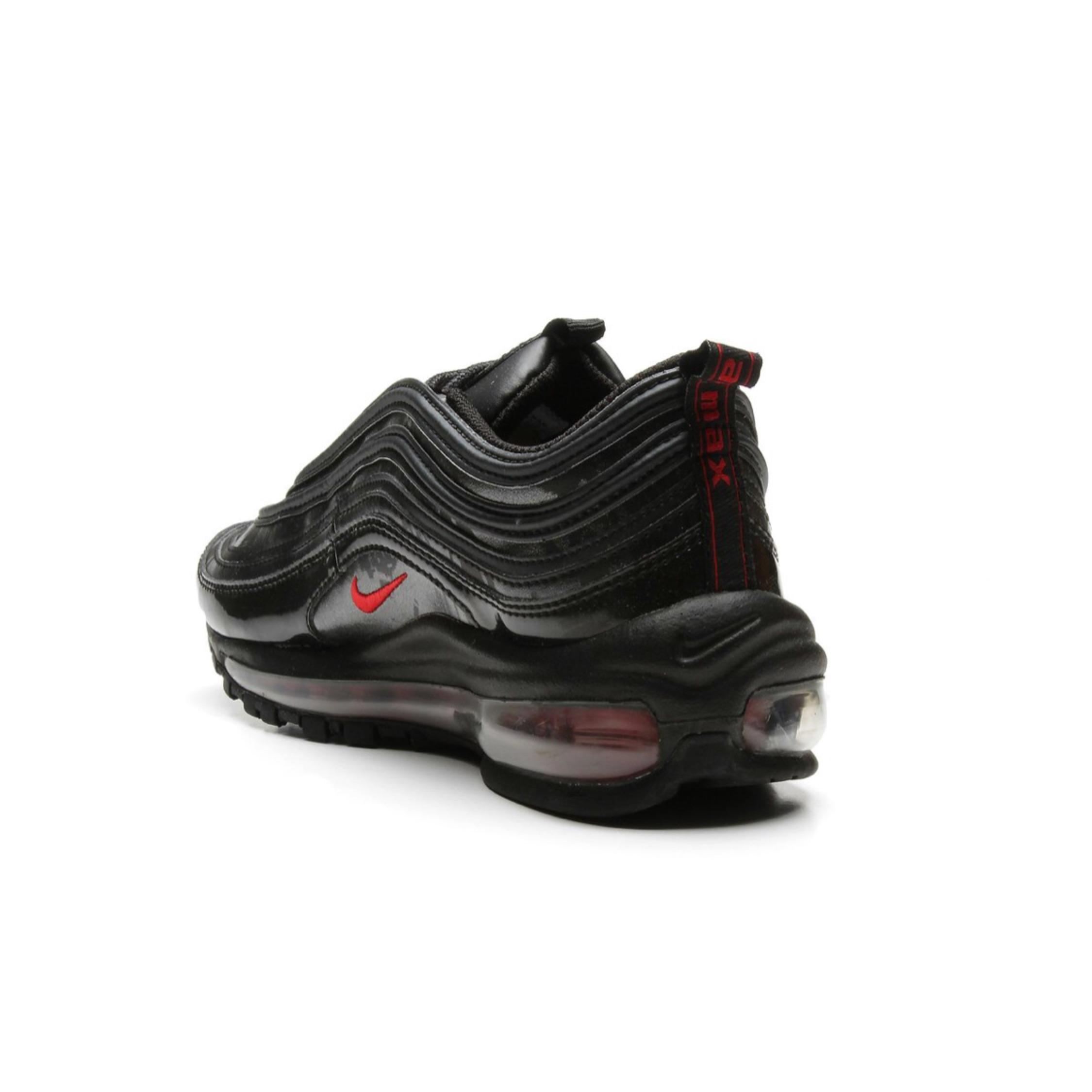 timeless design aae55 b7927 Nike Air Max 97 Black And Red Eu38
