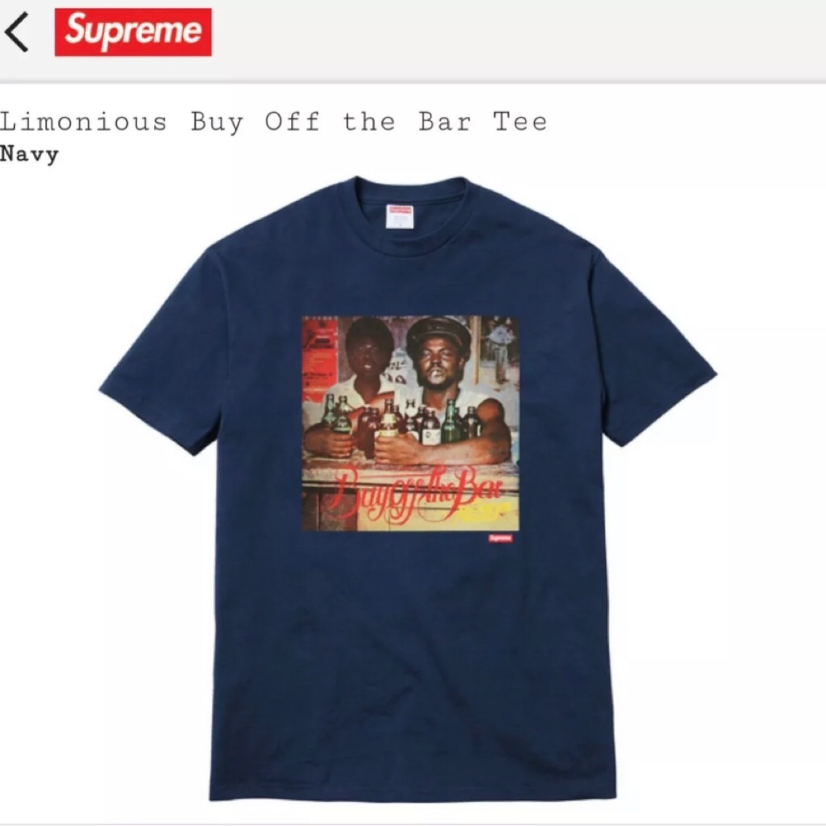 Supreme Wilfred Limonius Buy Off The Bar Tee