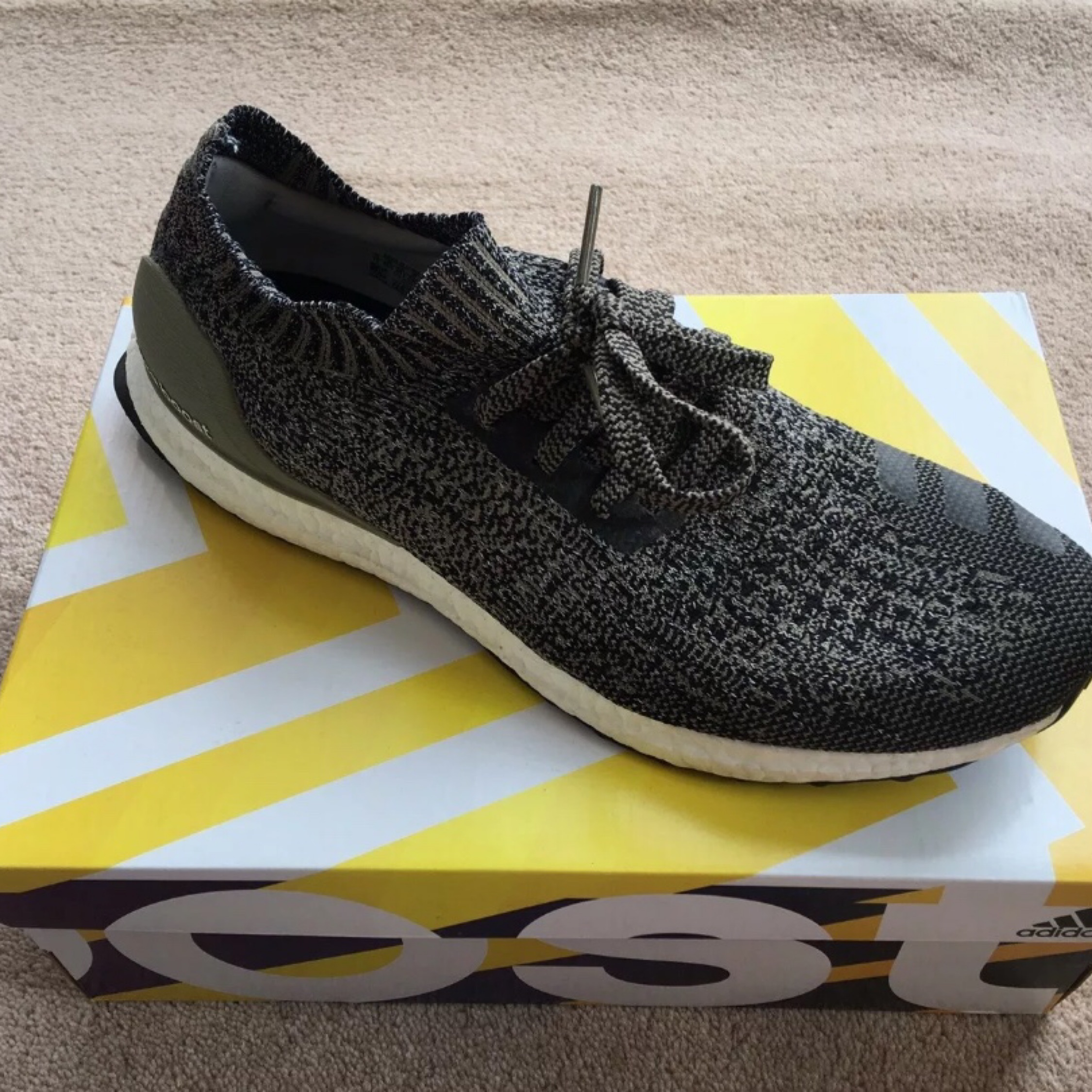 the best attitude a4d1a 96e47 Adidas Ultra Boost 4.0 Uncaged Cargo/Black 10 1/2