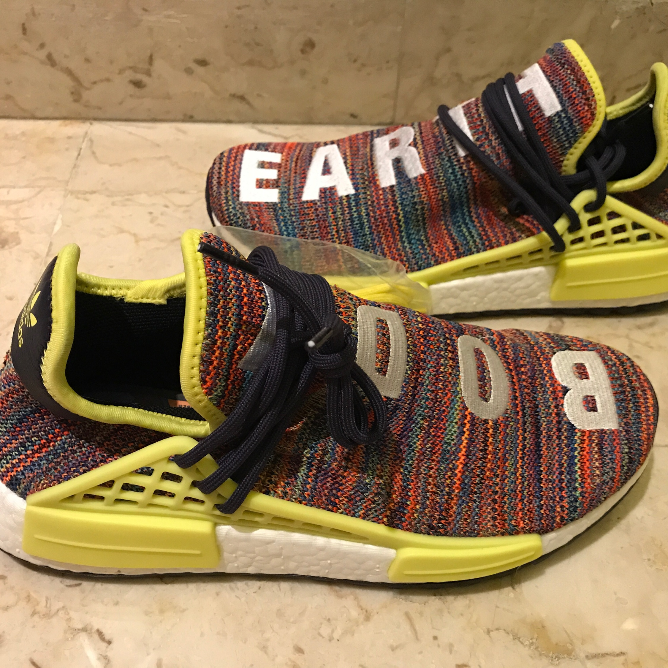 huge discount c0b5b ad9f1 Adidas Pharrell William Hu Nmd Multicolor Size 9.5