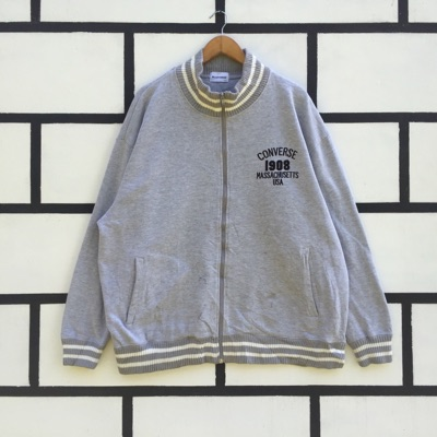 Vintage Converse Sweater Double Pocket Full Zip Up