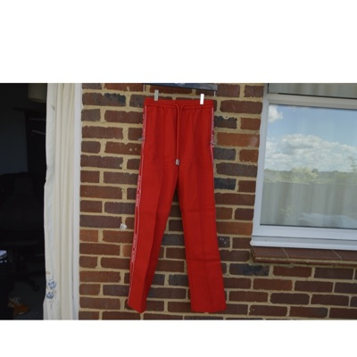 Off-White Red Logo Stripe Track Pants