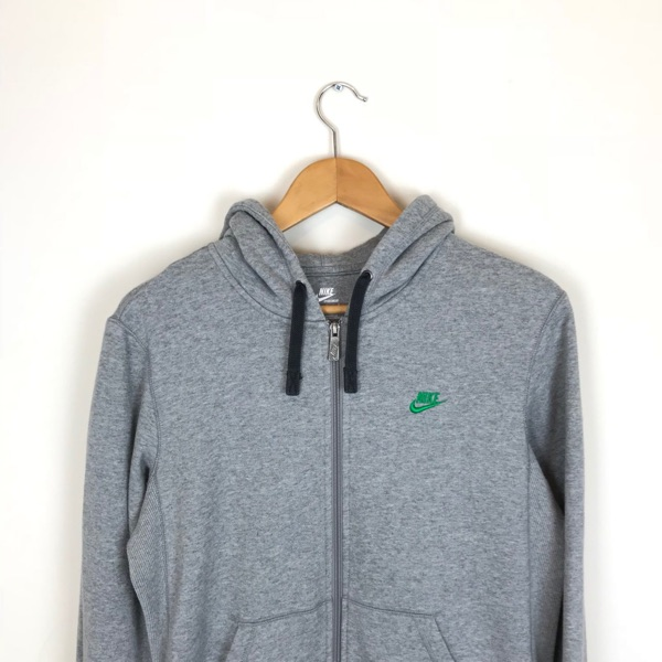 Vintage Nike Dark Grey Zip Up Hoodie