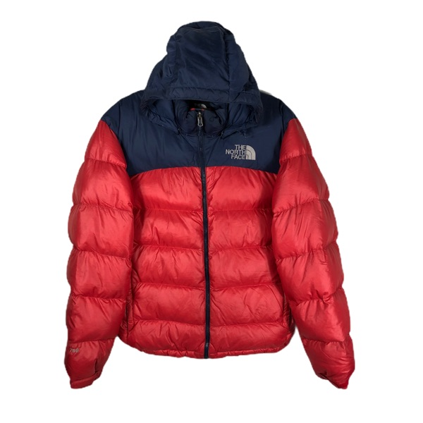 Supreme The North Face Leather Nuptse Jacket Red