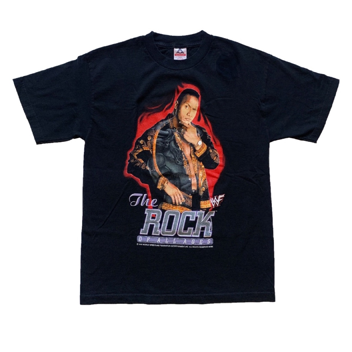 Vintage WWF The Rock Of All Ages Tee