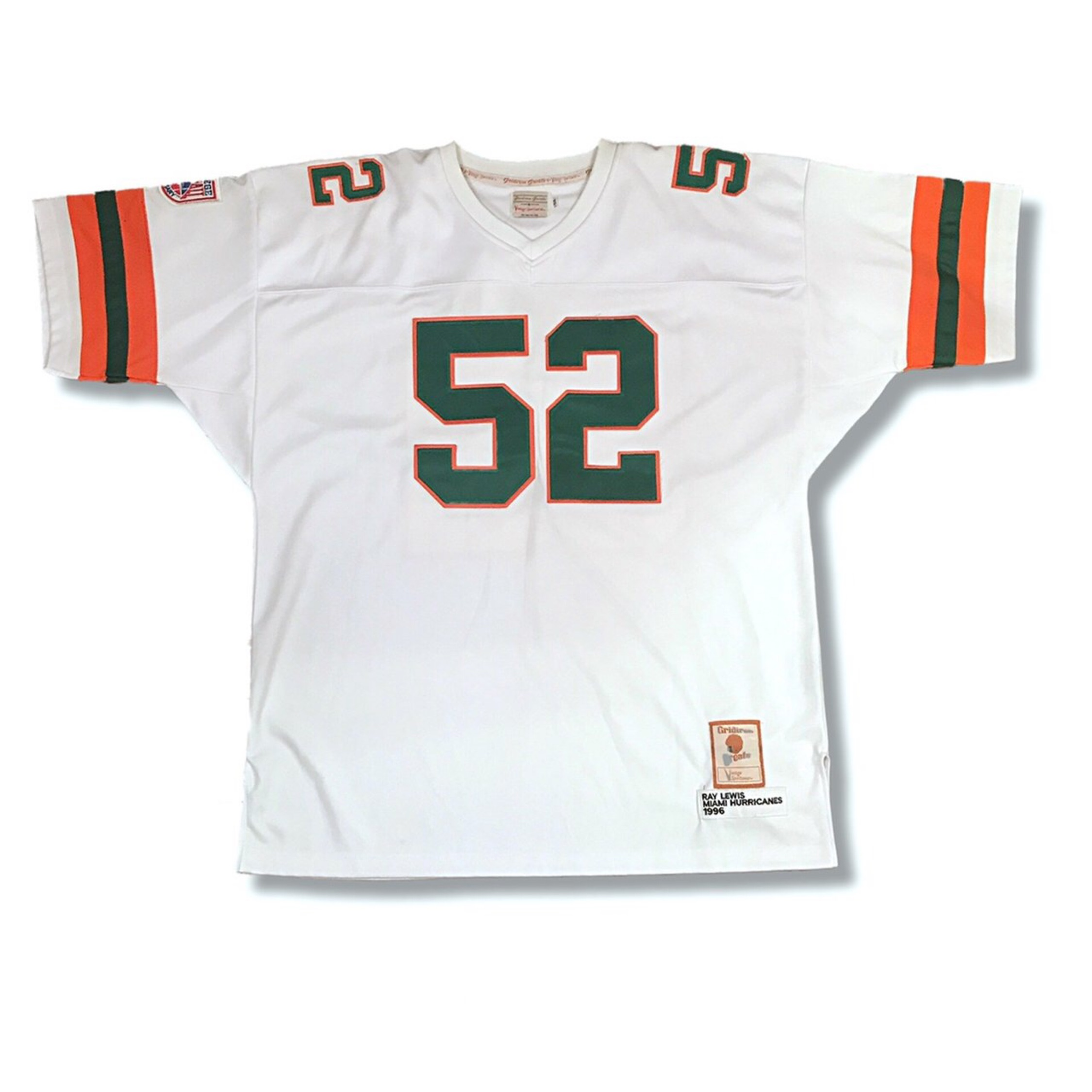 pretty nice bf299 1068d Throwback Nwt Miami Hurricanes Jersey