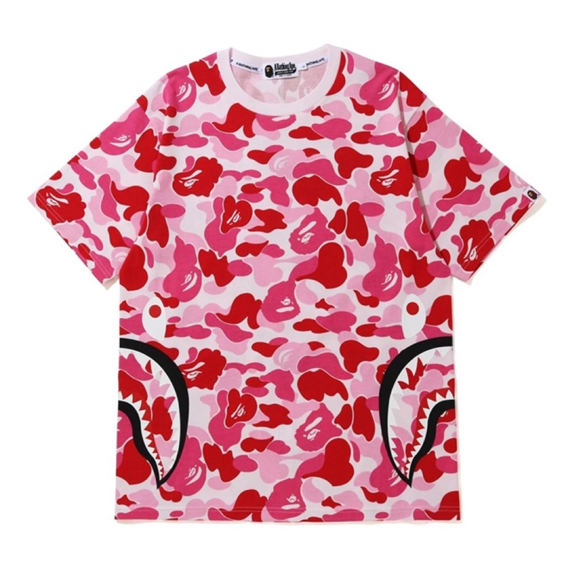 BAPE ABC Side Shark Tee White/Pink