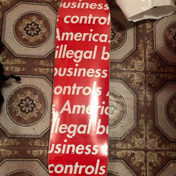 Supreme Illegal Business Controls America Red New