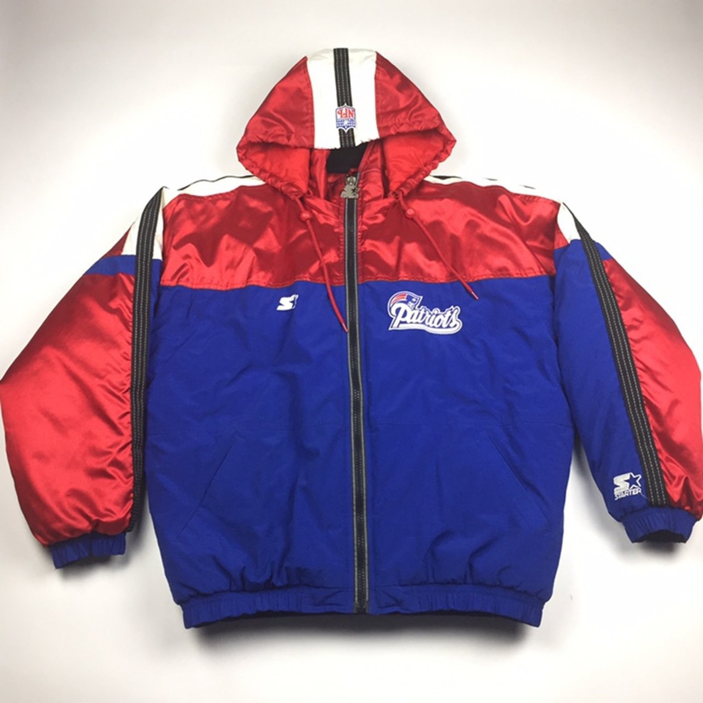 buy popular 98506 082b6 Nfl New England Patriots Huge Patch Puffer Jacket