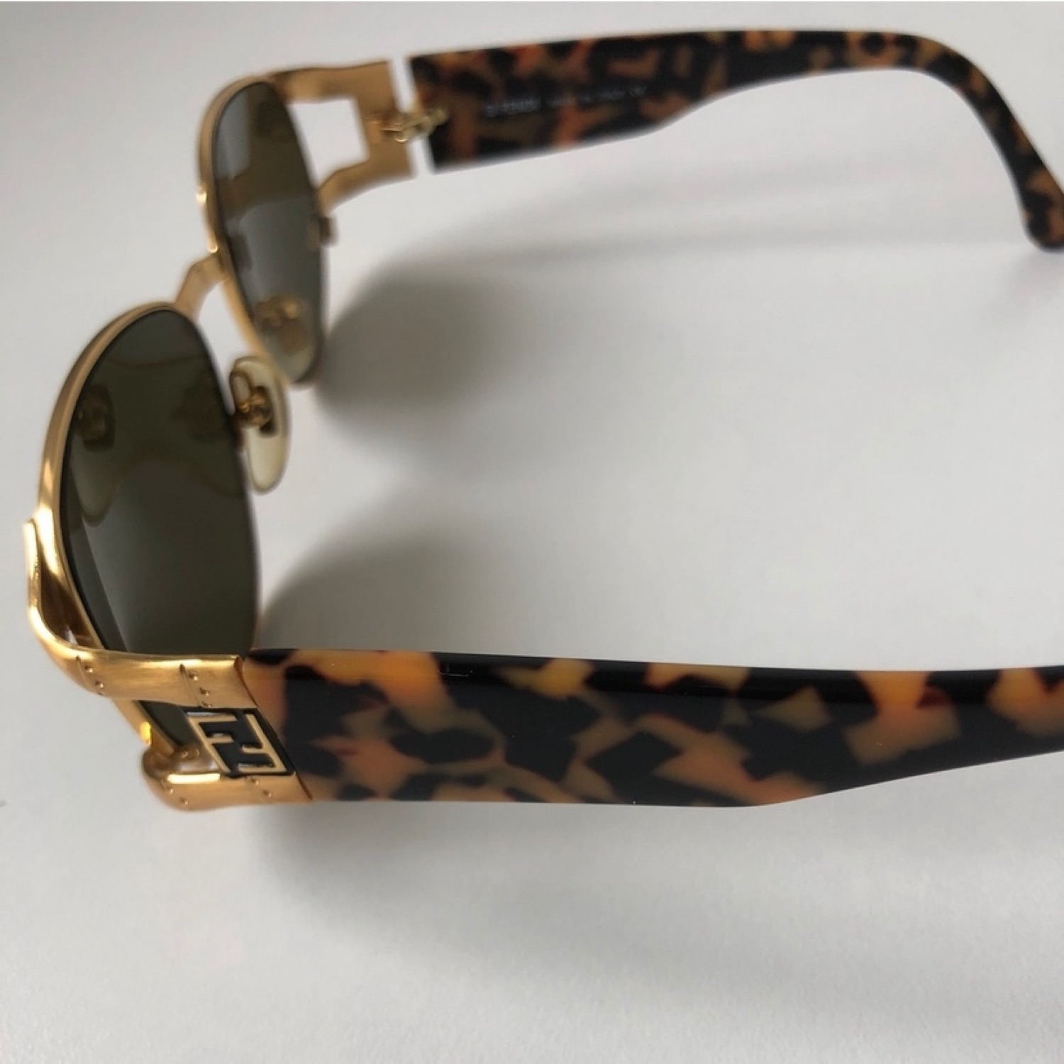 Fendi Vintage 7017 Gold Logo Sunglasses