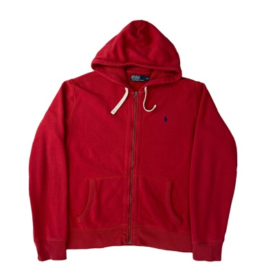 Polo Ralph Lauren Men's Red Zipped Up Hoodie