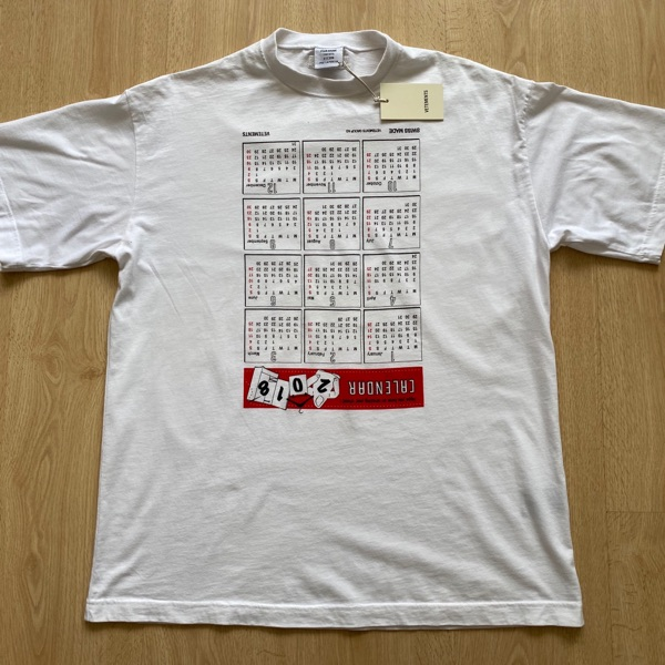 Vetements Oversized Calendar T-Shirt Tee