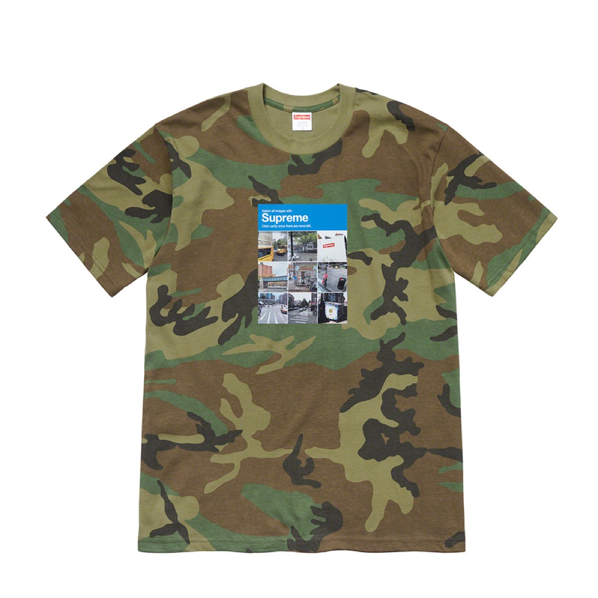 Supreme Verify Tee Camo