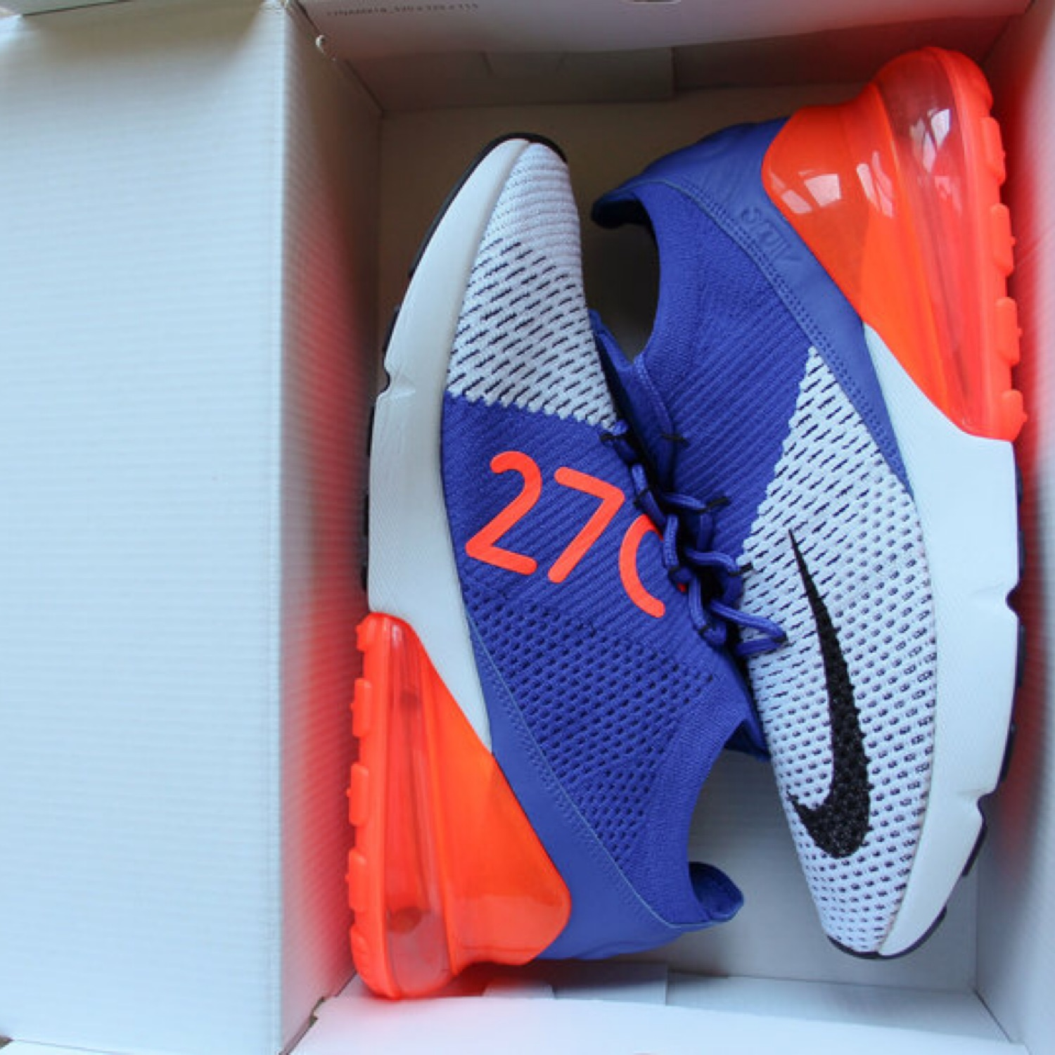 Nike Air Max 270 Racer Blue Orange Knicks