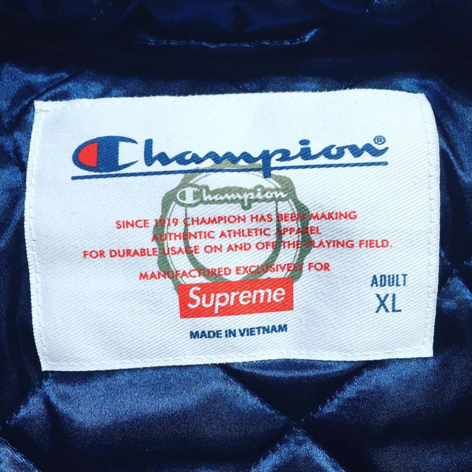 04f3f49d00ee Supreme X Champion Hooded Satin Varsity Jacket