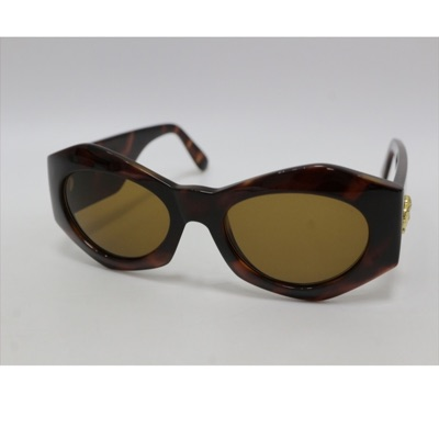 Versace Mod 422 Yellow Tinted Gold Logo Sunglasses