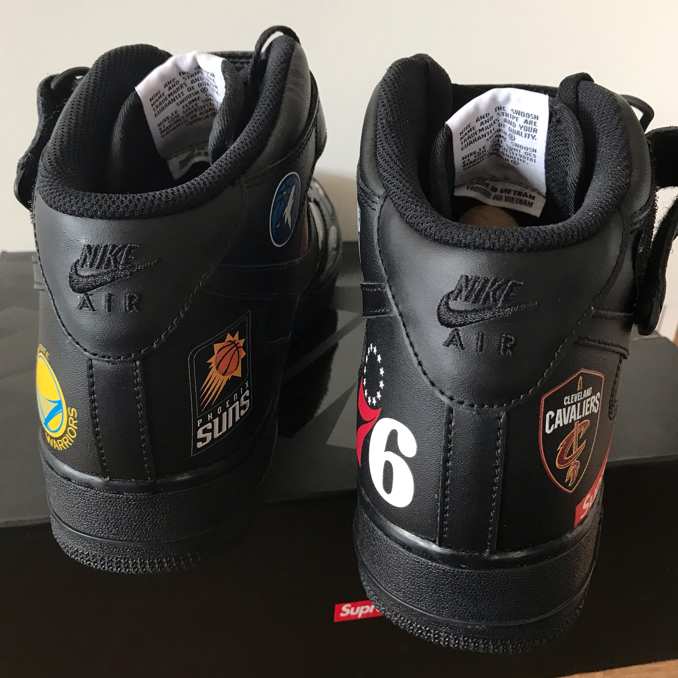 Ss18 Supreme X Nike Air Force 1 Mid Nba