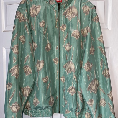 Supreme Floral Silk Track Jacket Mint