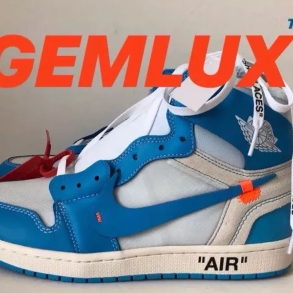 Nike Air Jordan 1 X Off White Unc Sneakers New
