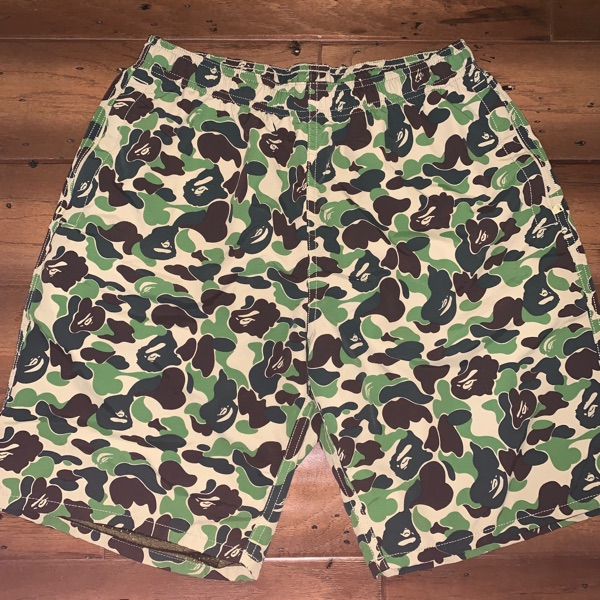 BAPE ABC Camo Beach Shorts Green