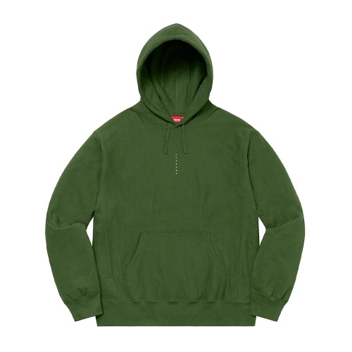 Supreme Micro Logo Hooded Sweatshirt Green
