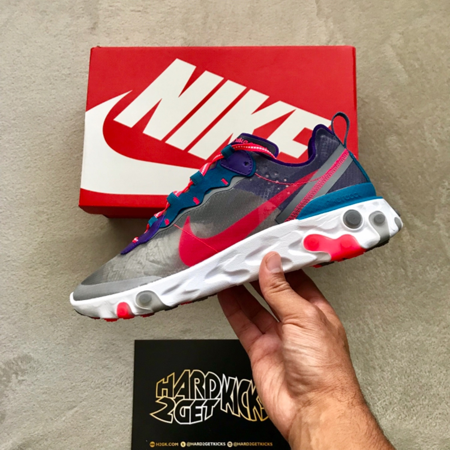 Nike React Element 87 Red Orbit Asia Exclusive