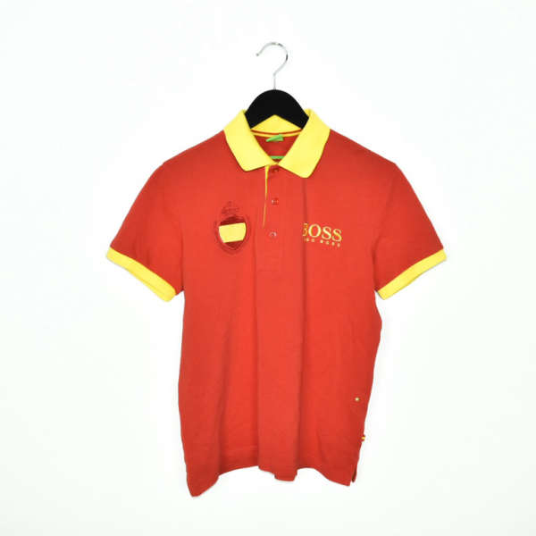 Vintage Hugo Boss Spain polo shirt t-shirt pullover in red