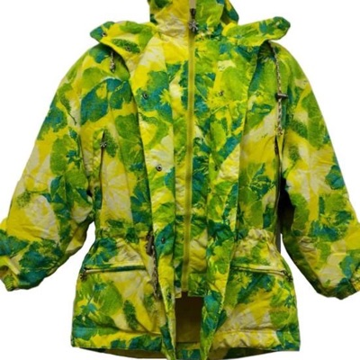 Ellesse Colorful Green Yellow Floral Pattern