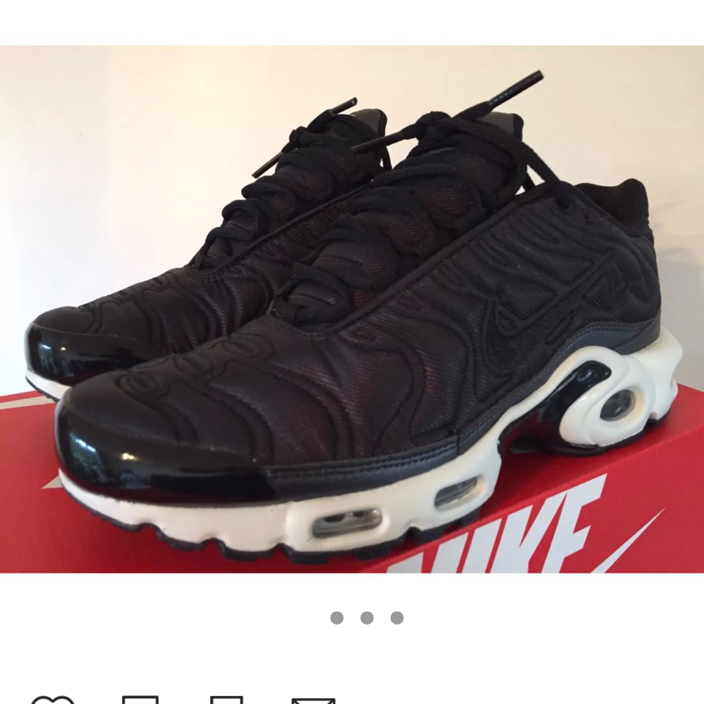 promo code 35abe f107c Nike Air Max Plus Se Tn Tuned Air Satin Black 5.5