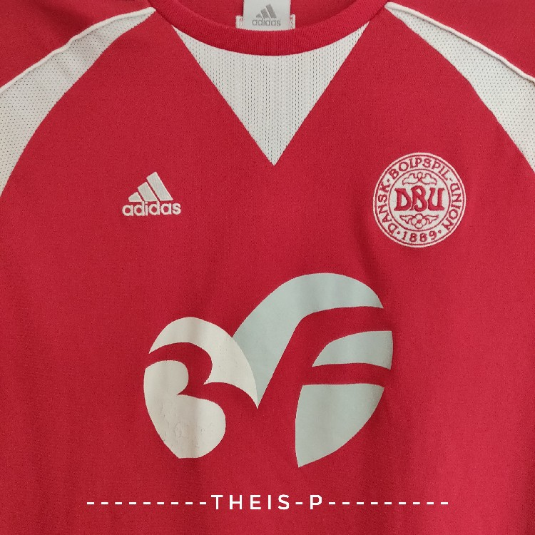 outlet store 60835 f0040 Vintage Adidas Women's Danish National Football/Soccer Team DBU Jersey