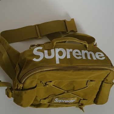 SS17 Supreme acid yellow waist bag cordura fabric