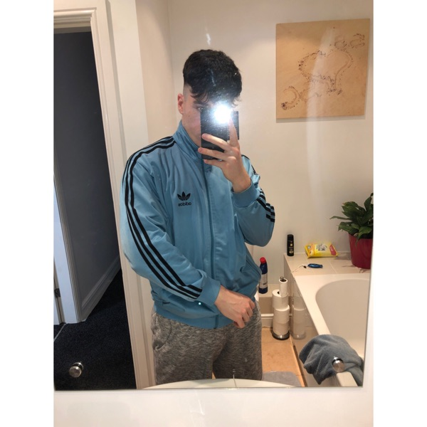 Light Blue Vintage Adidas Track Jacket