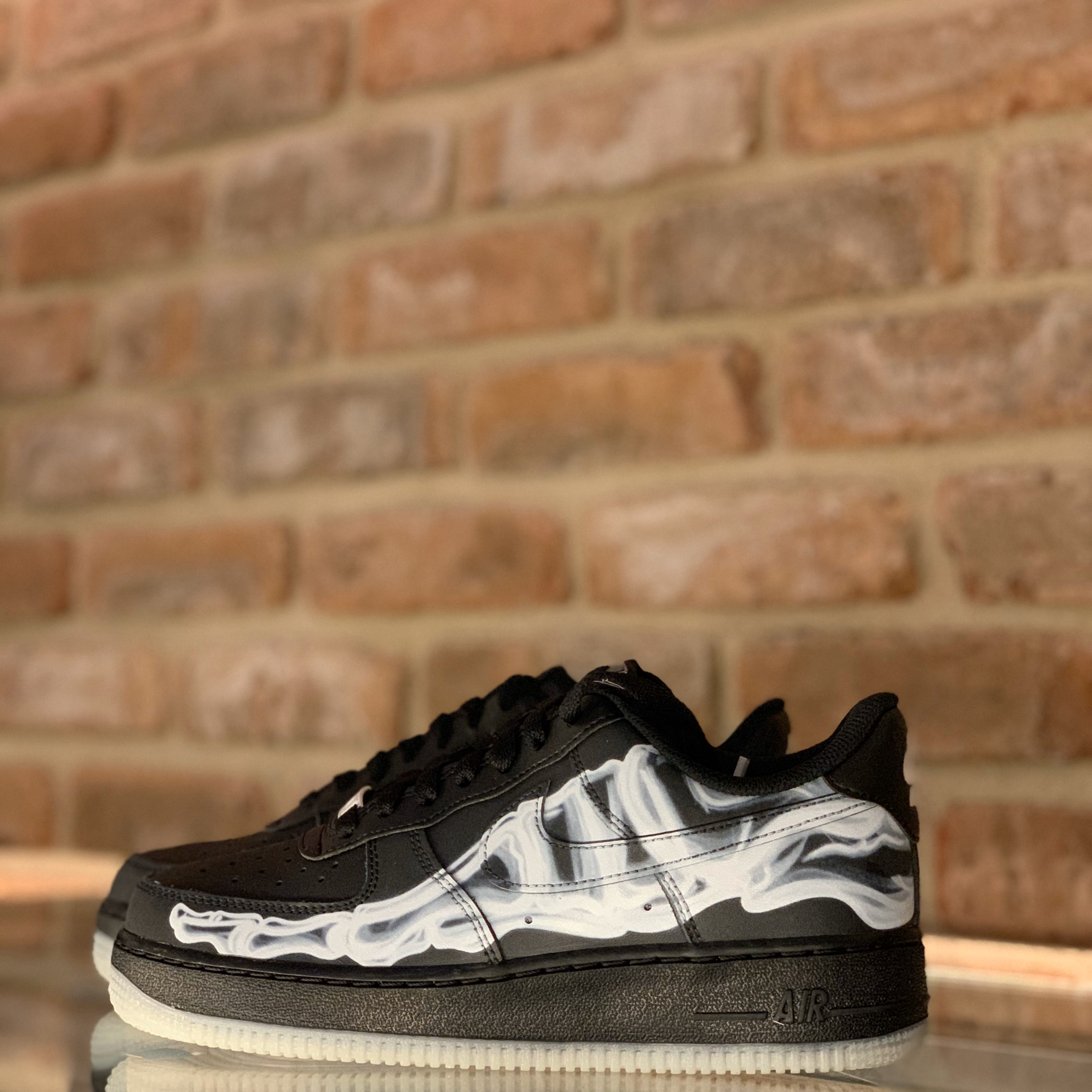 """Nike Air Force 1 """" Black Skeleton"""" Praise your shoes"""