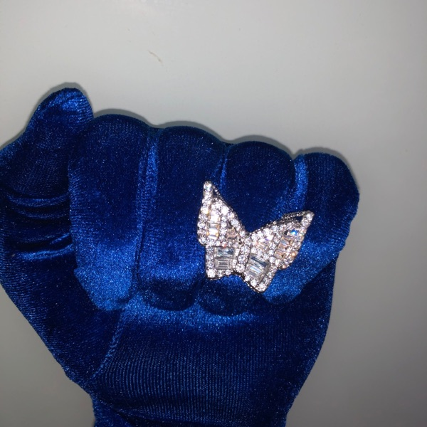 Iced Out Ring Diamond Butterfly Ring Street Rings