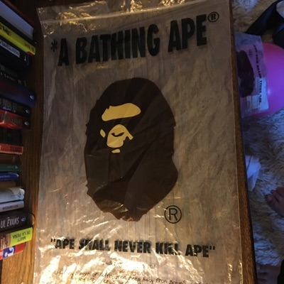 Bape, Apes Together Strong Navy Shorts