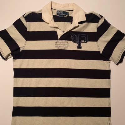 Polo Ralph Lauren P Wing Rugby Shirt Striped L